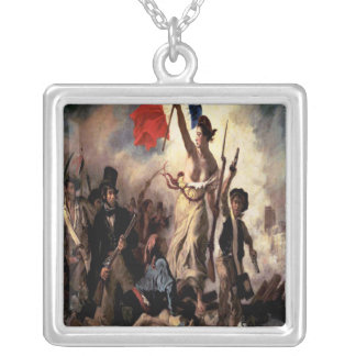 'Liberty Leading the People'' Square Pendant Necklace