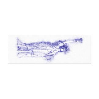 Liberty, New York, Manhattan, the USA, America Canvas Print