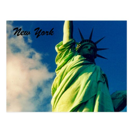 liberty ny postcard