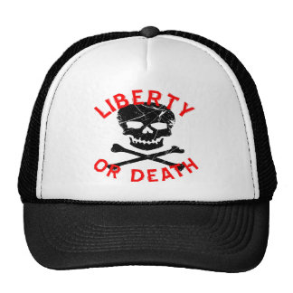 Liberty Or Death Grunge Skull Cap