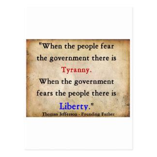 Liberty Over Tyranny Postcard
