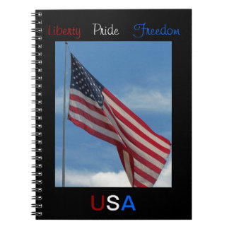 Liberty Pride Freedom Spiral Note Book