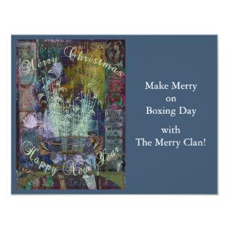 Liberty Reflection Christmas 11 Cm X 14 Cm Invitation Card
