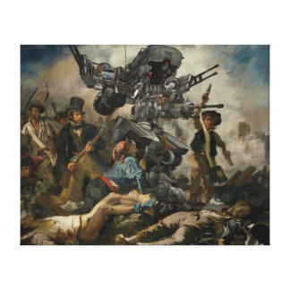 Liberty Robot Leading the People by Delacroix Canvas Print