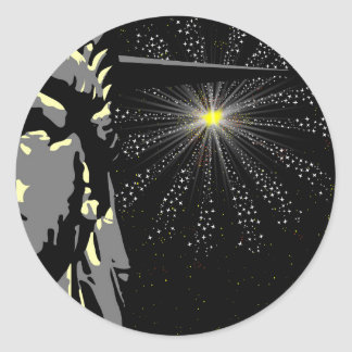 Liberty Round Sticker