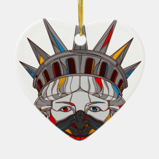 Liberty Samurai Ceramic Heart Decoration