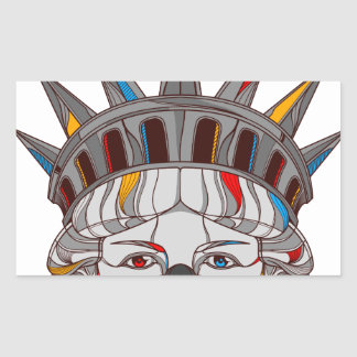 Liberty Samurai Rectangular Sticker
