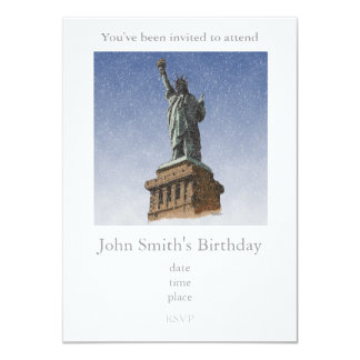 Liberty Snow 11 Cm X 16 Cm Invitation Card