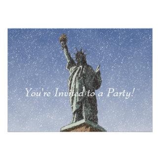 Liberty Snow Custom Invitations