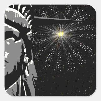 Liberty Square Sticker