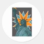 liberty star classic round sticker