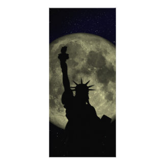 Liberty statue at night personalized rack card