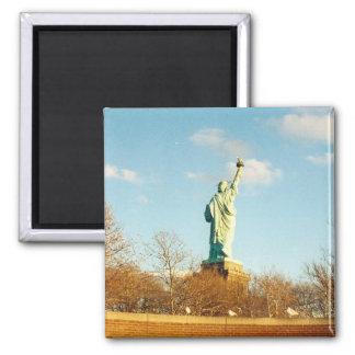 liberty statue square magnet