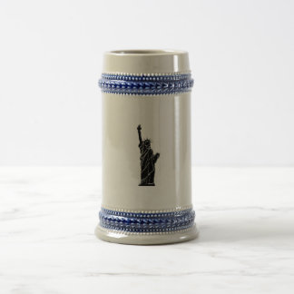 liberty statue photo on cup