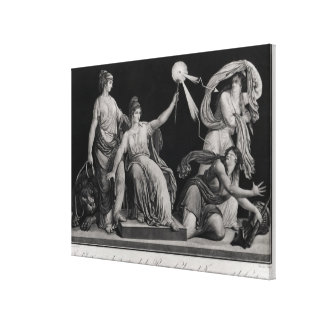 Liberty, striking down Ignorance and Fantacism Canvas Print