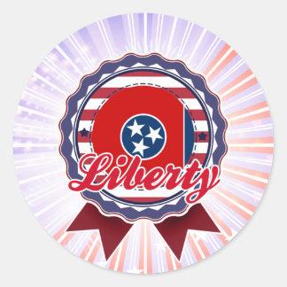 Liberty, TN Round Stickers