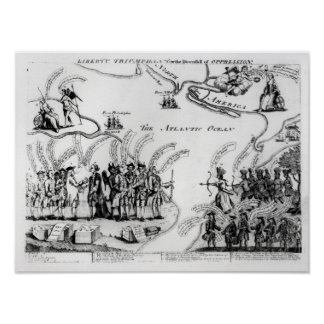 Liberty Triumphant, or the Downfall Poster