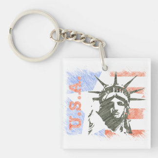 LIBERTY USA KEY RING