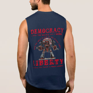 LIBERTY - we are a republic, not a democracy! Sleeveless Shirt