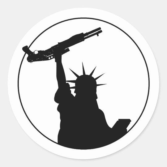 Liberty with Shotgun Round Sticker