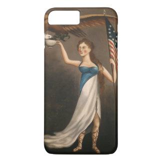 Liberty Woman Eagle American Flag USA iPhone 8 Plus/7 Plus Case