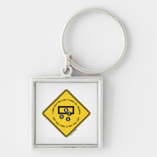 LIBOR $350 Trillion Financial Scandal Not First Silver-Colored Square Key Ring