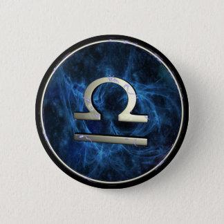 Libra 6 Cm Round Badge