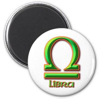 Libra 6 Cm Round Magnet