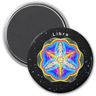 Libra 7.5 Cm Round Magnet