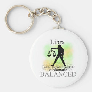 Libra About You Basic Round Button Key Ring