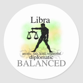 Libra About You Round Stickers