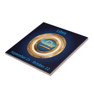 Libra Astrological Sign Tile