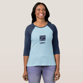 Libra Astrology Zodiac Sign Blue Shirt Women