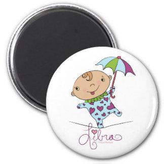 Libra Baby 6 Cm Round Magnet