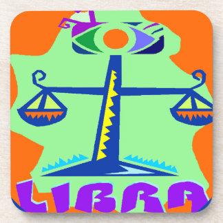 Libra Badge Coasters