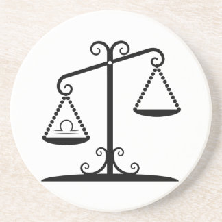 libra balance scales zodiac astrology horoscope coaster
