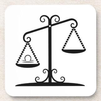 libra balance scales zodiac astrology horoscope coaster