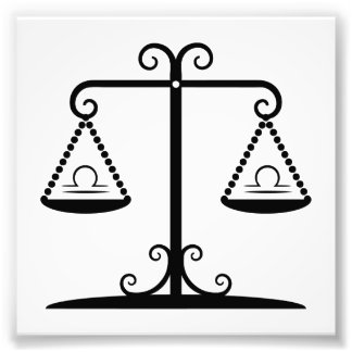 libra balance scales zodiac astrology horoscope photo art