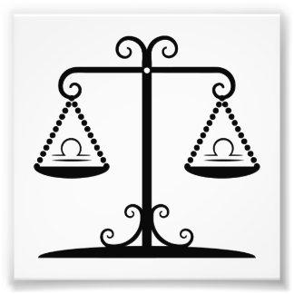 libra balance scales zodiac astrology horoscope photographic print