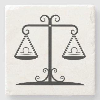 libra balance scales zodiac astrology horoscope stone beverage coaster
