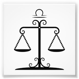 libra balanced scales astrology zodiac photograph