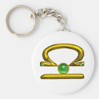 LIBRA BASIC ROUND BUTTON KEY RING