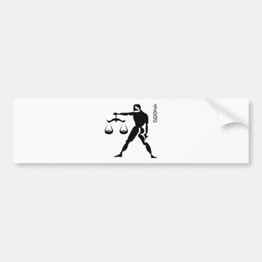 LIBRA BLACK AND WHITE HOROSCOPES PRODUCTS BUMPER STICKERS