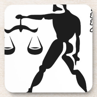 LIBRA BLACK AND WHITE HOROSCOPES PRODUCTS BEVERAGE COASTERS
