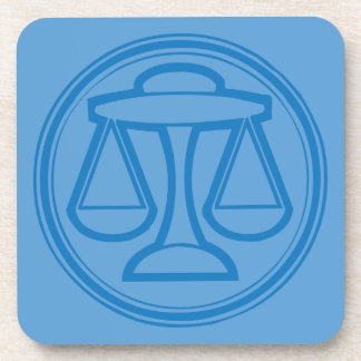 Libra Blue Coaster