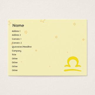 Libra - Chubby Business Card