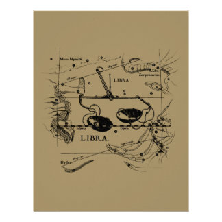 Libra Constellation Hevelius 1690 Sept23 - Oct22 Flyer