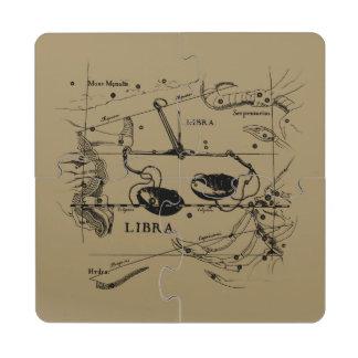 Libra Constellation Hevelius 1690 Sept23 - Oct22 Puzzle Coaster