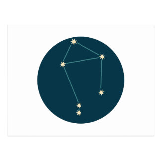 Libra Constellation Postcard