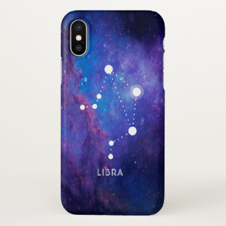 Libra Constellation With Deep Space Background iPhone X Case
